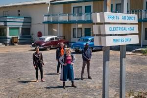 gang outside motel